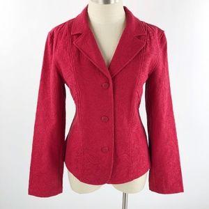 Coldwater Creek Women's Red Textured Blazer/Jacket